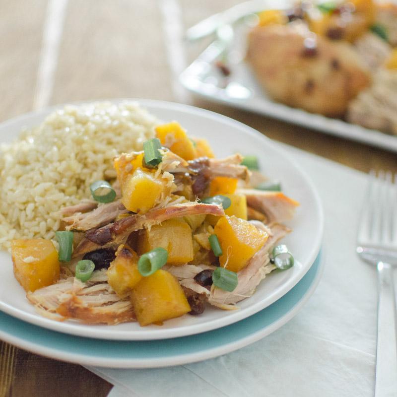 pineapple pork roast with rice