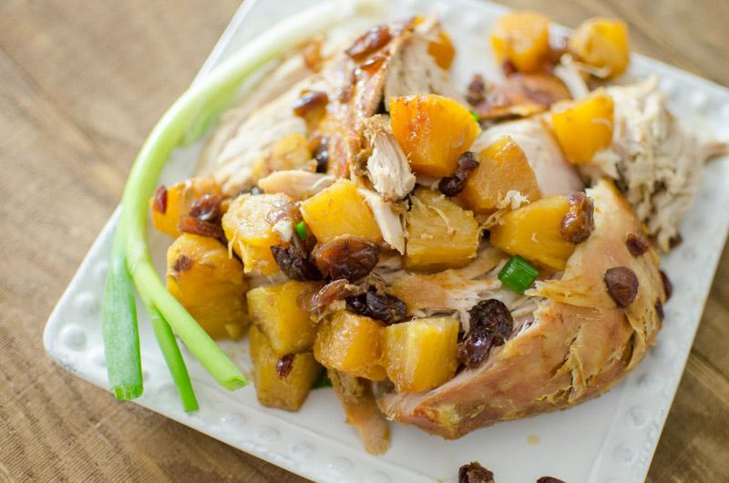 pineapple pork roast with celery